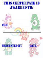 Care Bears Invitation