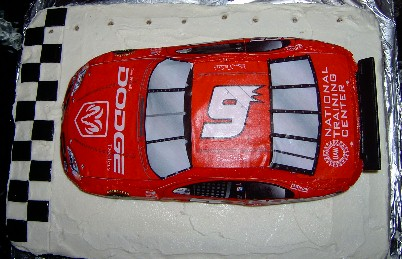 Racing Birthday Party Theme Cake