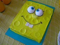SpongeBob Birthday Party Idea Cake