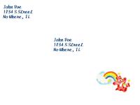 Care Bears Envelope